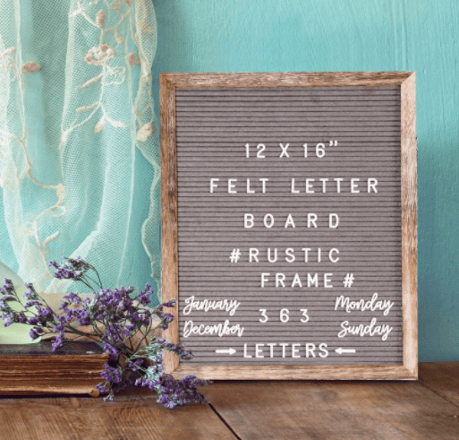 Letter Board for back to school