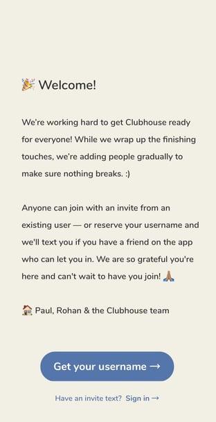 Clubhouse social app