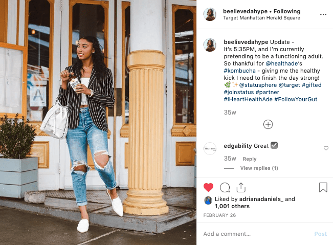 retail support using influencers