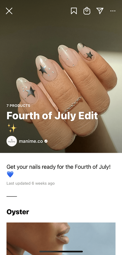4th of July themed manicure