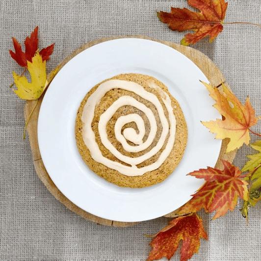 fat badger bakery maple glazed pumpkin vegan statusphere