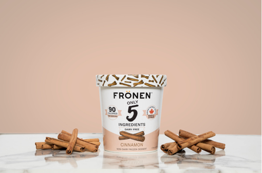fronen ice cream non dairy cinnamon