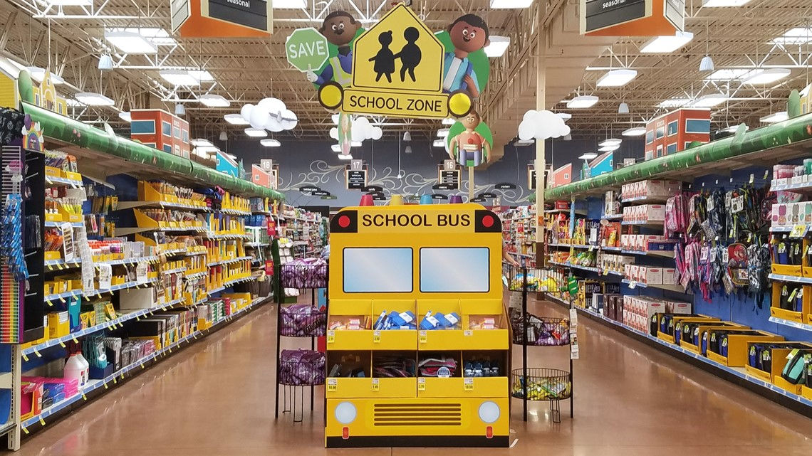 kroger back to school display