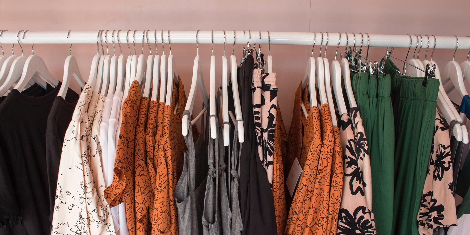 women's clothing rack retail store
