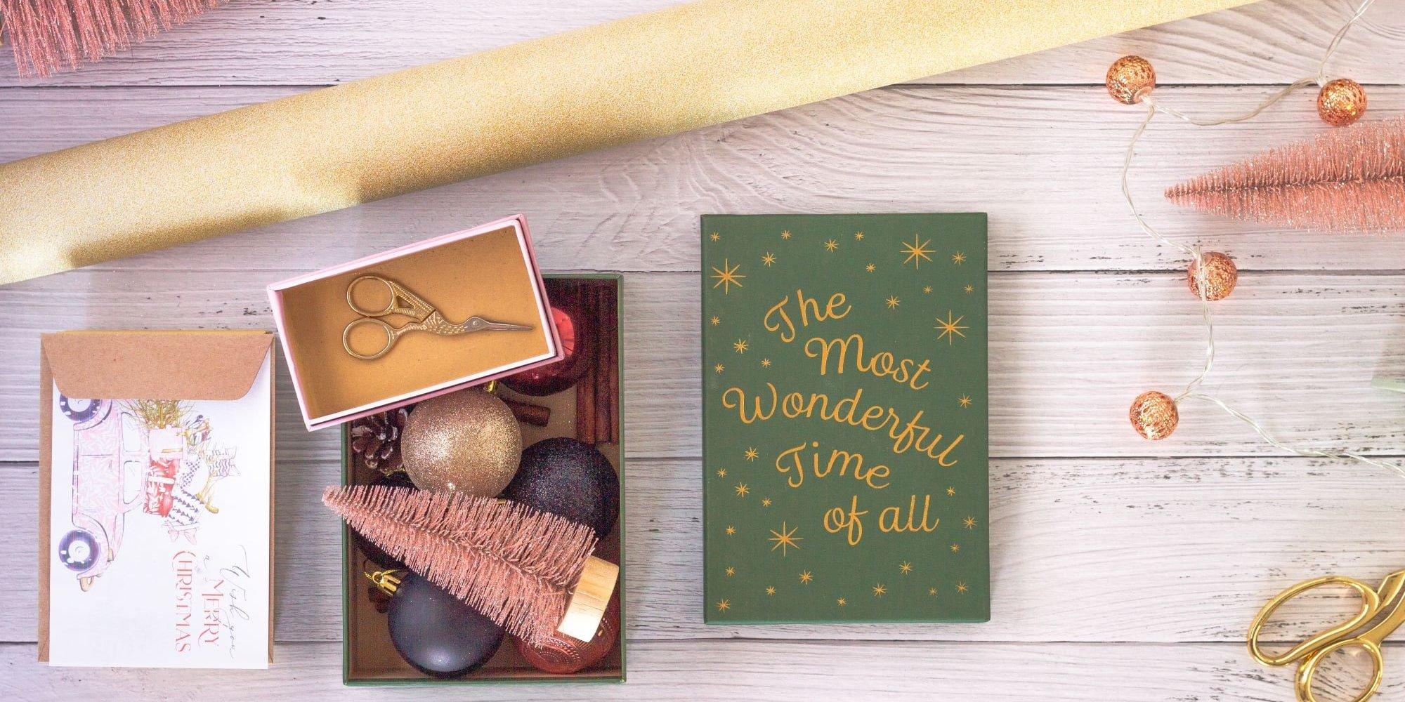 christmas decor and gift wrapping supplies